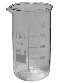 Glass beaker tall form 0250mL
