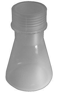 Plastic flask - conical - Erlenmeyer - Premium - 0100mL