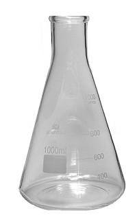 Glass flask - conical - Erlenmeyer - 5000mL