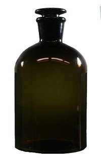 Glass bottle reagent - amber - narrow mouth - 1000mL ø106mm