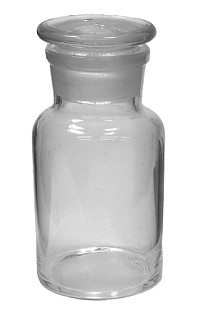 Glass bottle reagent - clear - wide mouth - 0125mL
