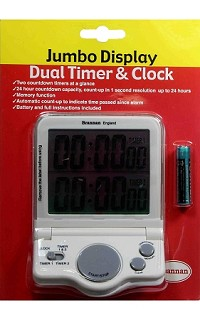 Timer - jumbo display dual time and clock