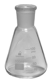 Glass conical ground mouth 0250mL  24/29