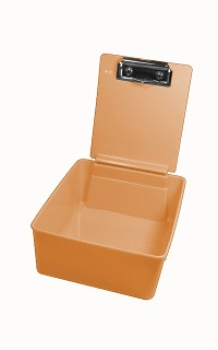 Plastic work pan - orange