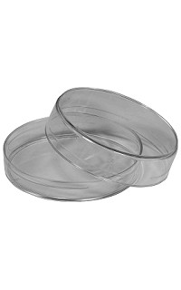 Plastic petri culture dish - 90mm - 2 layer - pack 10
