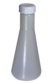 Plastic conical flask Erlenmeyer 0250mL - Budget