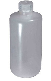 Plastic reagent bottle - narrow mouth - 0250mL