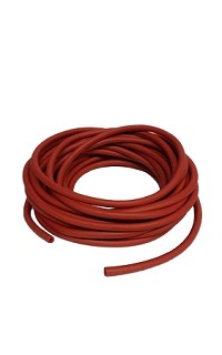 Rubber red - ID09mm - wall 2.0mm - 01meter