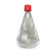 Conical Erlenmeyer with screw cap - narrow mouth