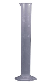 Plastic measuring cylinder - 0100mL