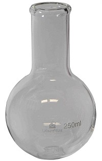 Flask-round bottom-long narrow neck-0250mL