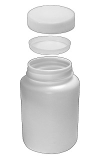 Plastic reagent bottle - wide mouth - 2000mL