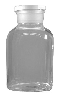 Glass bottle reagent - clear - wide mouth -plastic stopper ø106mm 1000mL