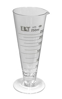 Glass cylinder - cone shape - 0250mL