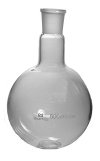 Flask-boil-1 neck-round bottom-0100mL-14/23