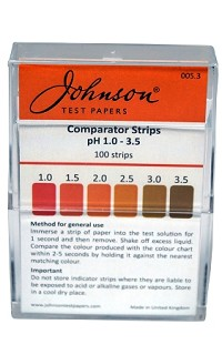 pH Comparator Strips pH 1.0 - 3.5