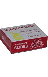 Mic slides - frosted 1 end,both sides - pack 50