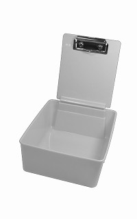 Plastic work pan - grey