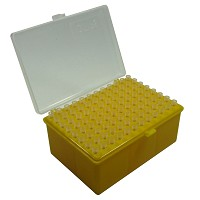 Pipette tip box with pipette tips - 96 x 200µl tips