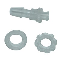 Bulkhead Luer Fittings with stator, nut, barbed metric 4.0 - Pack of 5